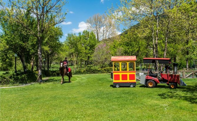 mini train & horse back ride